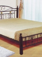Metal___Wooden_Bed