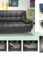 black sofa interior design